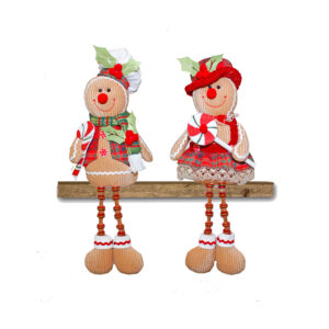 Gingerbread Button Leg Sitter - Assorted - 2020