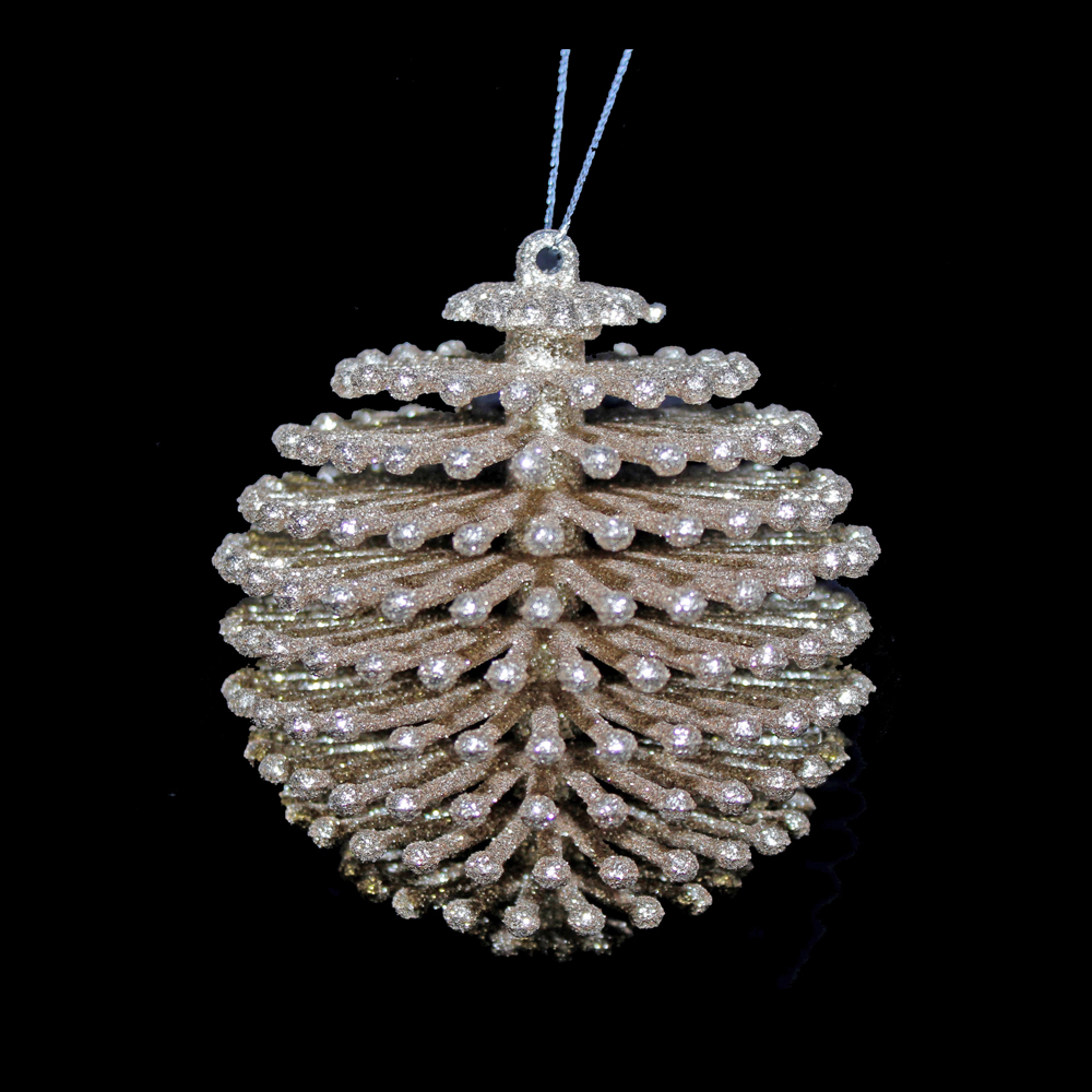 Gold Sparkle Layered Bauble Hanger