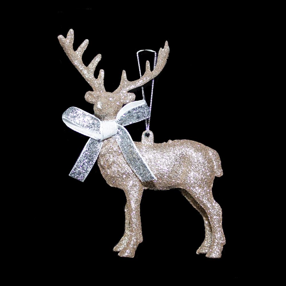 Gold Sparkle Reindeer Hanger