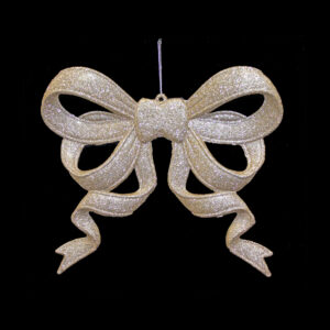 Gold Sparkle Ribbon Bow Hanger