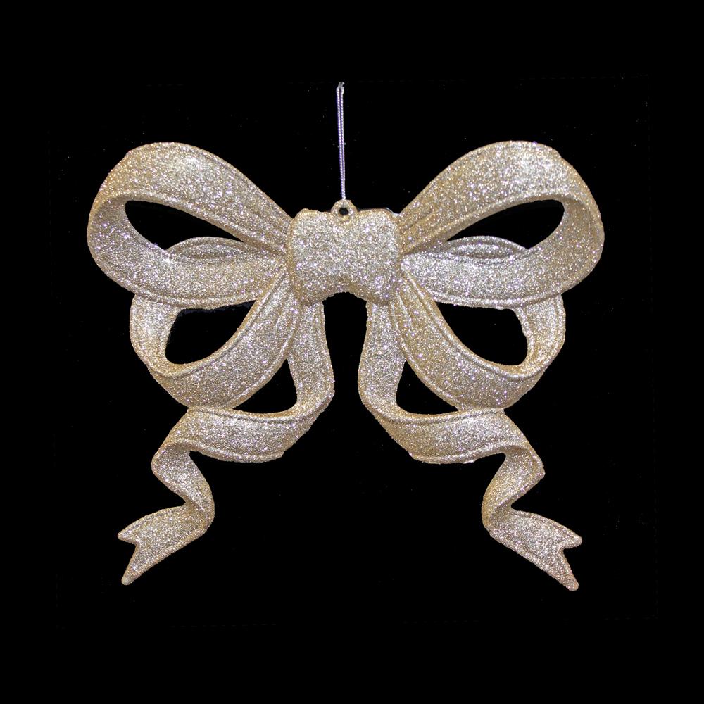 Gold Sparkle Ribbon Bow Hanger
