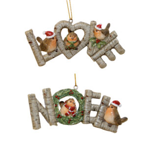 Robin Word Hanger Assorted