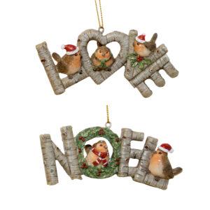 Robin Word Hanger Assorted