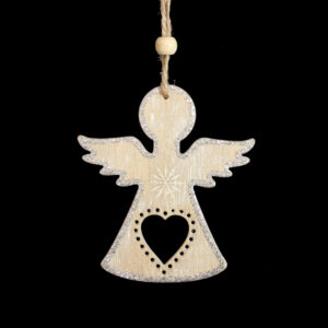 Silver Sparkle Angel Hanger