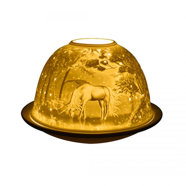 Unicorn lightglow tea light holder