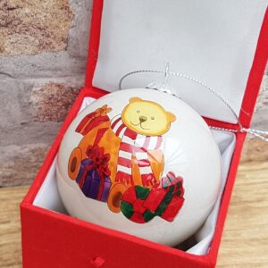 baby's first christmas bauble bear